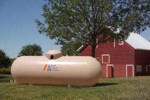 Delta Liquid Energy owned propane tank
